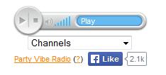 HTML5 & JavaScript Internet Radio Player - Party Vibe Radio